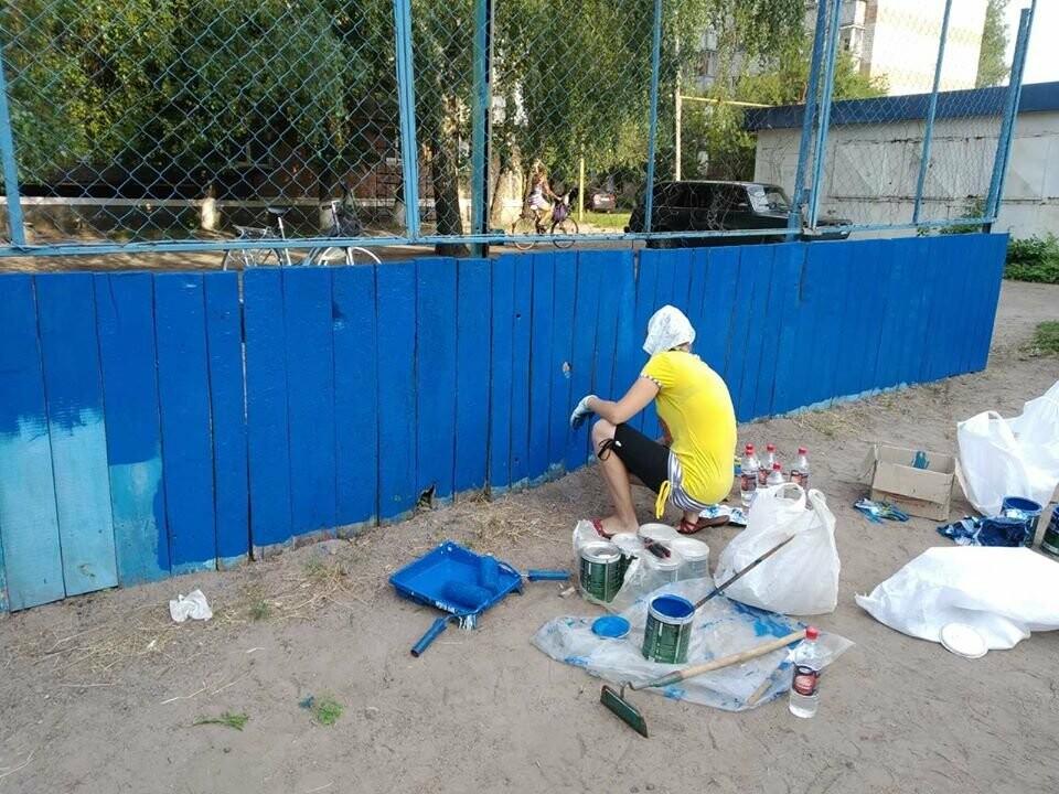 У Конотопі ремонтують спортивні майданчики на Клубній, фото-8