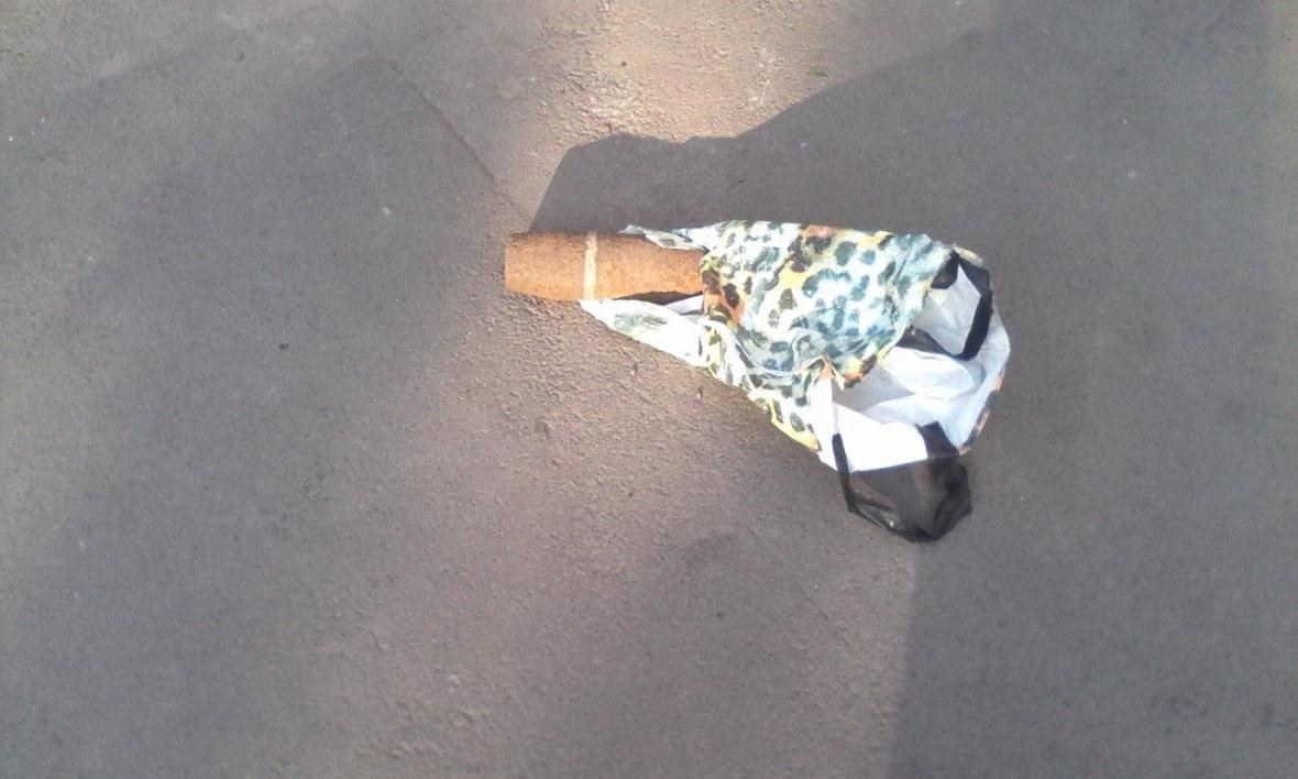 Електричкою з снарядом у пакеті. Чоловік привіз у військомат знайдений боєприпас, фото-1