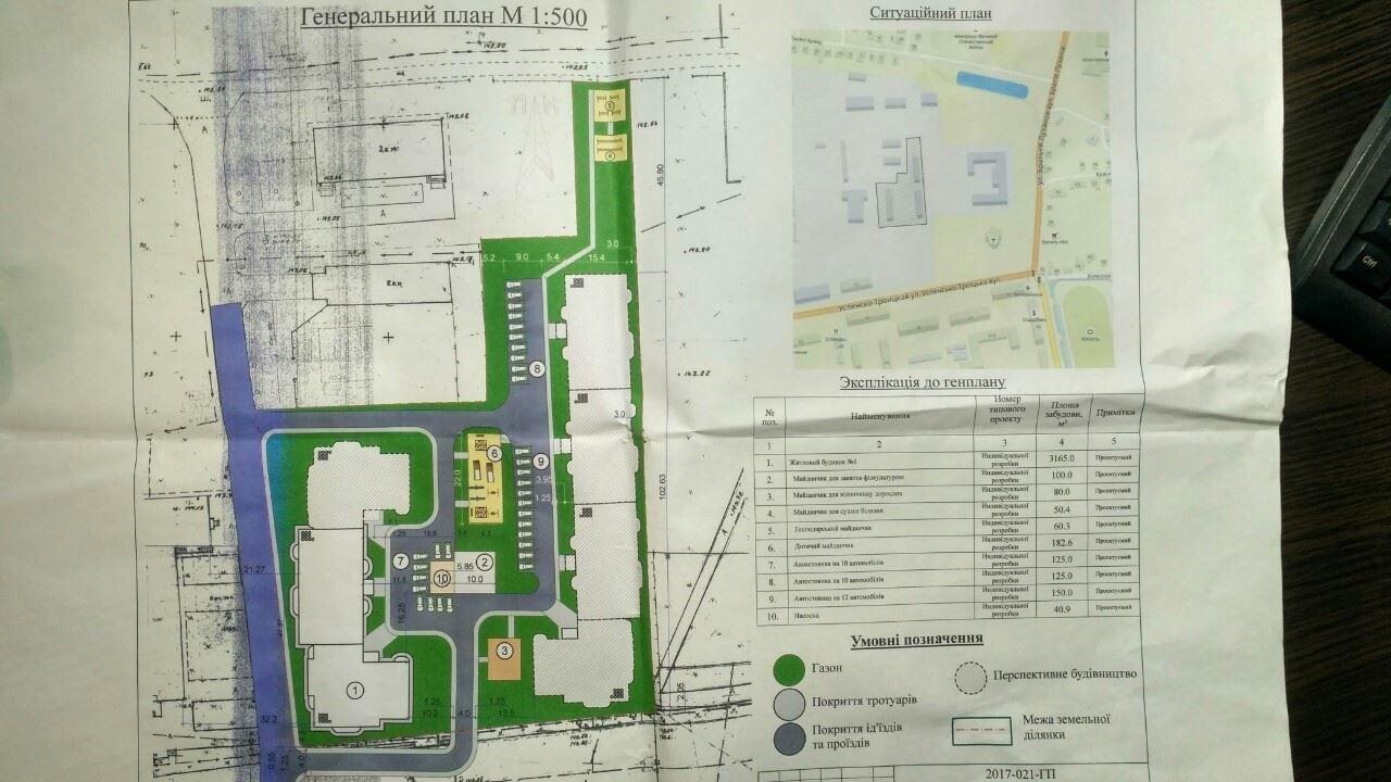 У мережі з'явився генеральний план житлового комплексу по вул. Успенсько–Троїцькій, фото-1