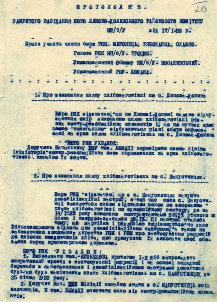 Оприлюднено архівні матріали про Голодомор на Сумщині, фото-1