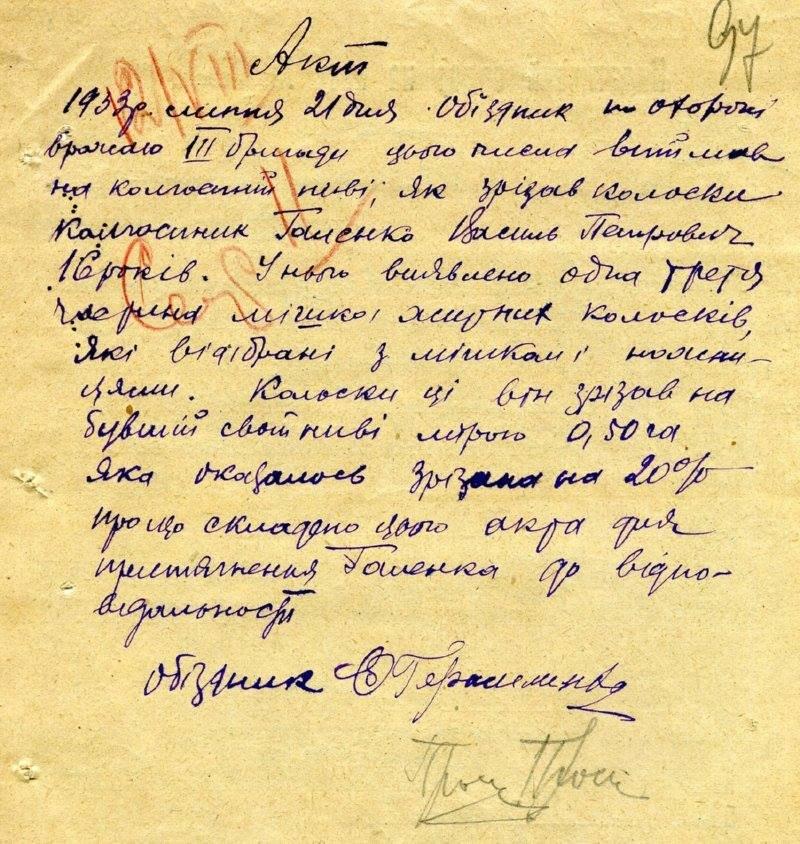 Оприлюднено архівні матріали про Голодомор на Сумщині, фото-10