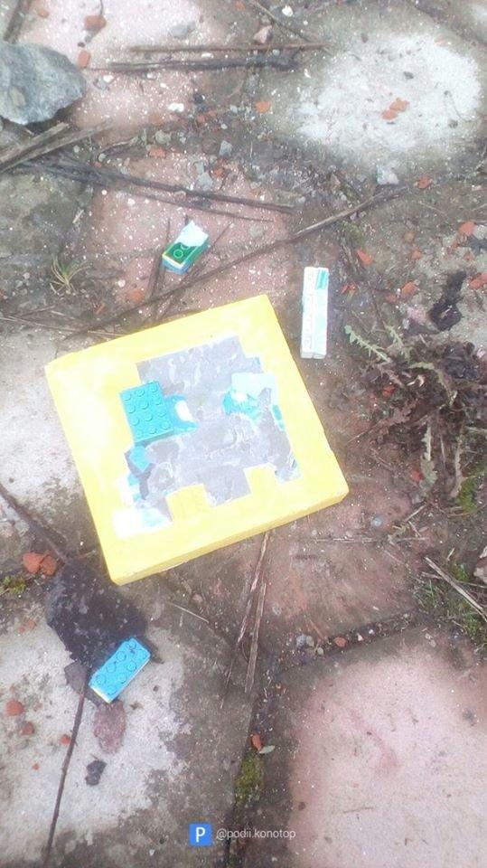 У Конотопі невідомі розгромили роботи вуличних художників, фото-2