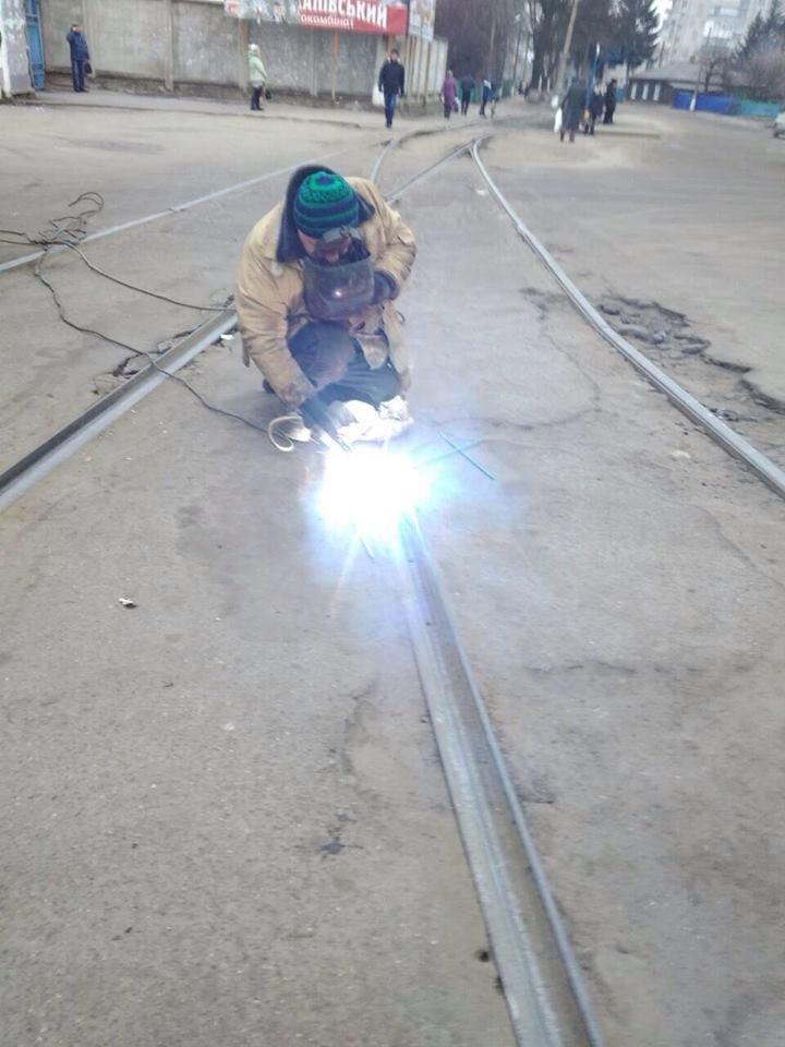 У Конотопі ремонтували трамвайні колії, фото-4