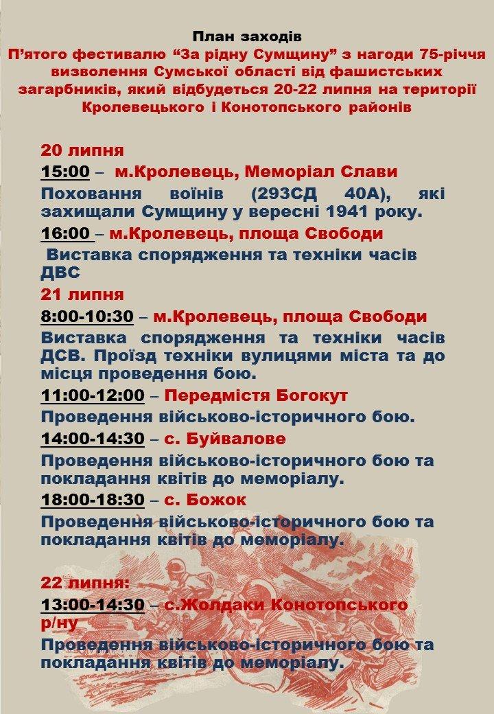 """На Конотопщині влаштують фестиваль з військово-історичної реконструкції """"За рідну Сумщину"""", фото-3"""