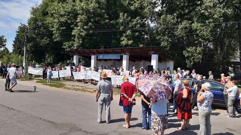Жителі Конотопщини вийшли на мітинг проти смороду від Попівського спиртзаводу, фото-3