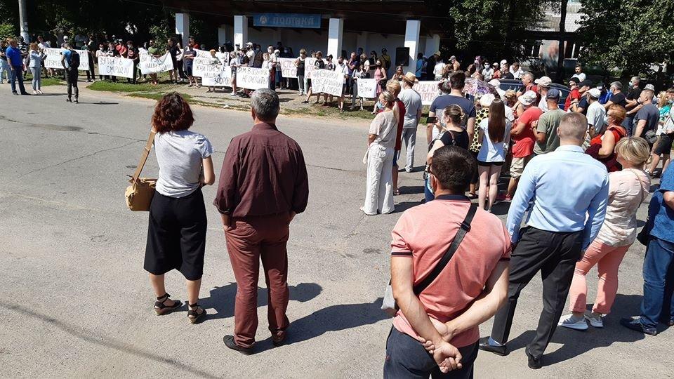 Жителі Конотопщини вийшли на мітинг проти смороду від Попівського спиртзаводу, фото-11