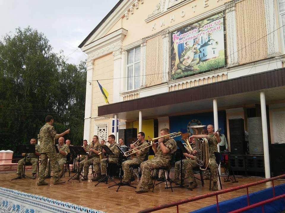 Військовий оркестр Конотопської 58-ї ОМПБр відзначає свій день народження, фото-1