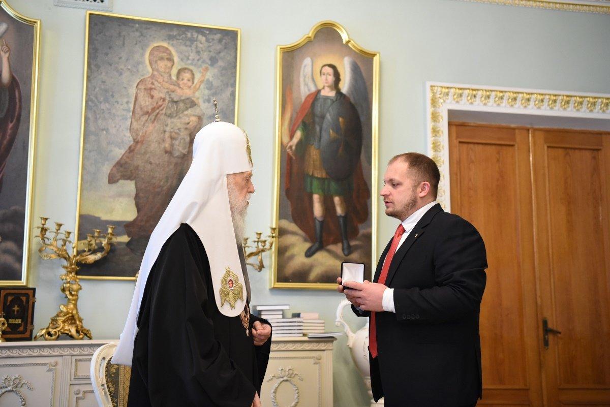 Патріарх Філарет відзначив церковною нагородою новообраного міського голову Конотопа, фото-1