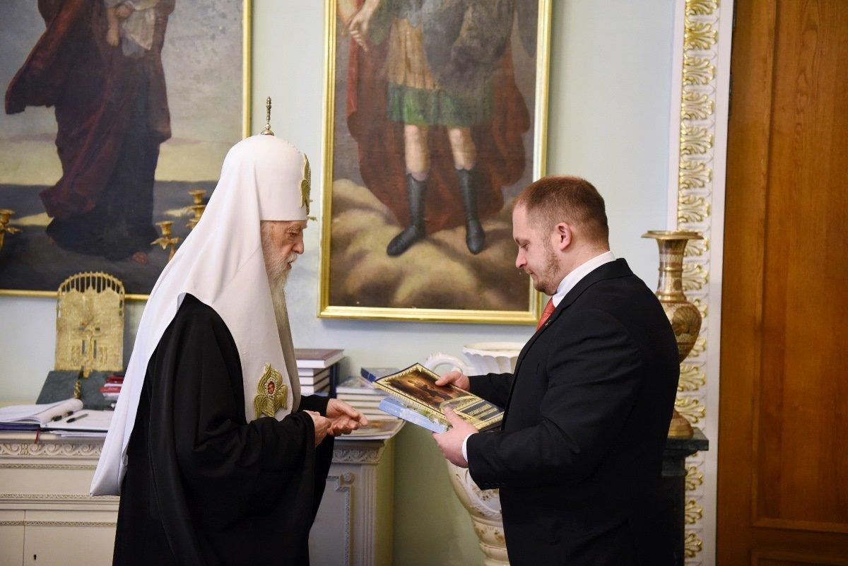 Патріарх Філарет відзначив церковною нагородою новообраного міського голову Конотопа, фото-7
