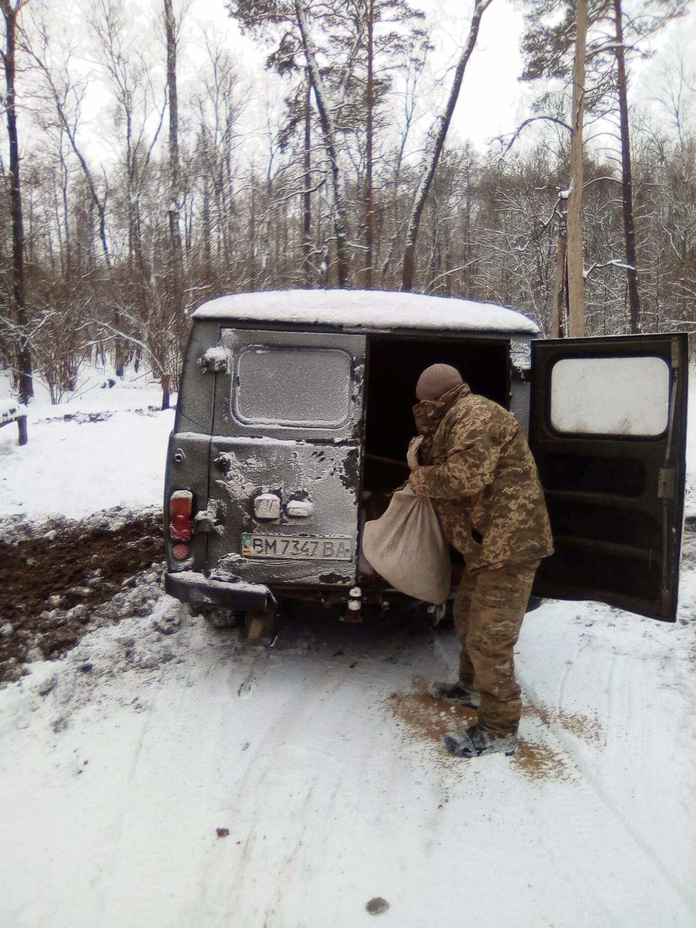 Конотопські лісівники підгодовують взимку диких тварин+ФОТО, фото-6