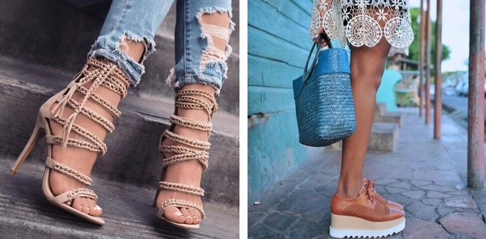 Летняя женская обувь на доске объявленй Клубок